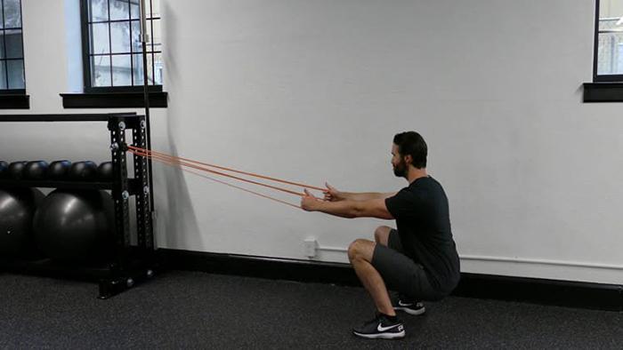 Anchored squat