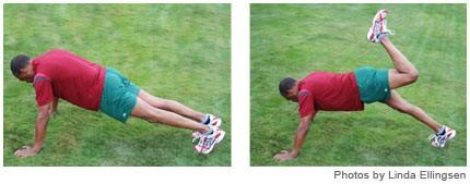 Backward kicks - Backward kicks (quadrilateral and hip flexion):