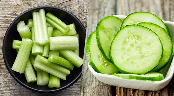 Cucumber and celery smoothies: Healthy skin, slim shape