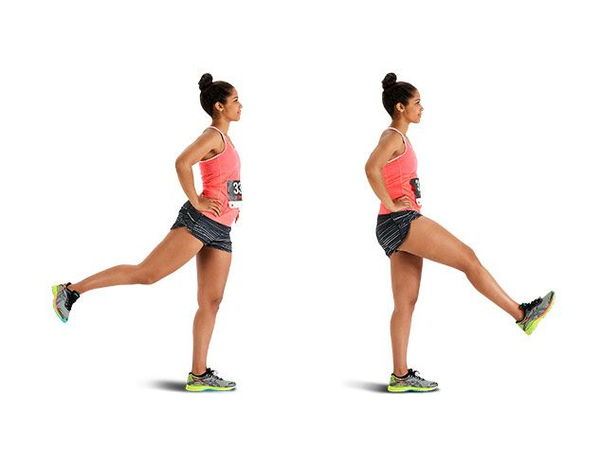 Leg swing - Foot swing (quadrilateral, hip, and glutes):