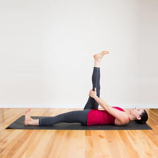 Hamstring stretch - Hamstring tendons: