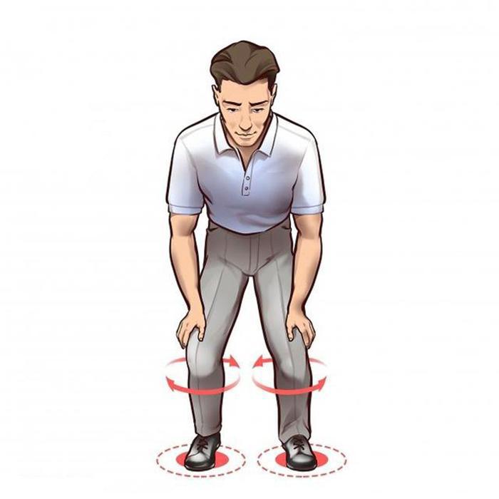 Rotate the knee