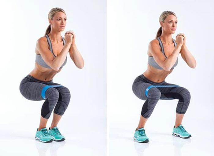 Standard banded squat