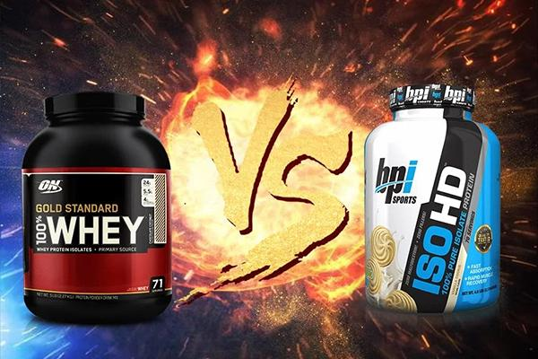 Compare Whey Gold and Iso HD