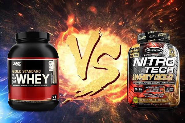Compare Whey Gold and NitroTech Whey Gold