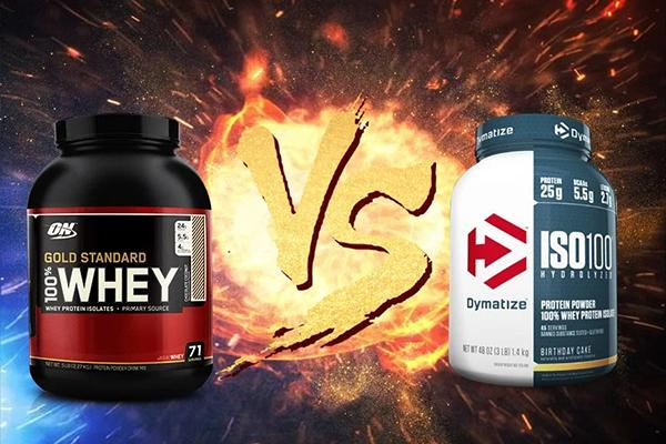 Compare Whey Gold Standard and Iso 100