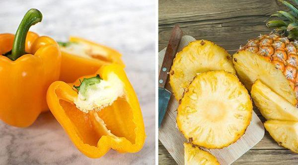 Yellow bell pepper and pineapple smoothie: Bright start