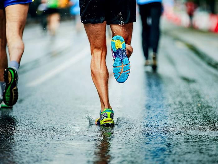 Wear a comfortable and proper running shoe.