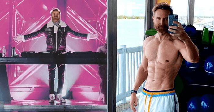 Dj David Guetta Has 6 pack body at the age of 53