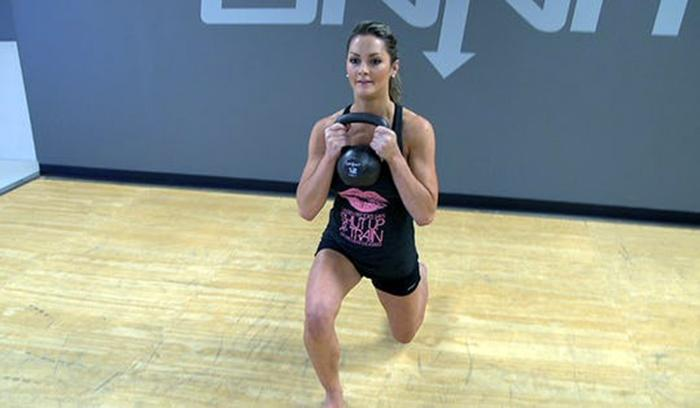 Some kettlebell weightlifting exercises