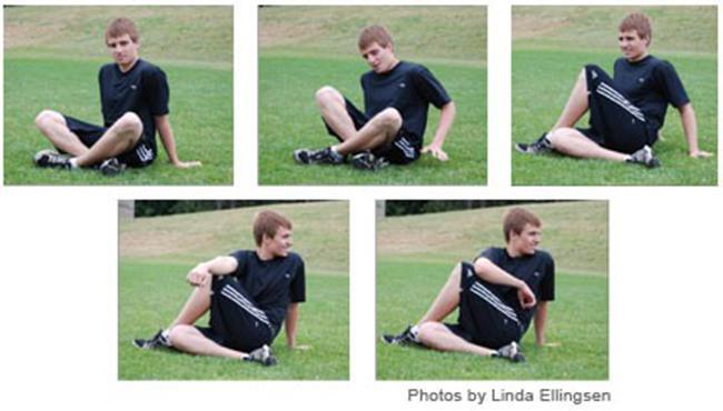 Hip / lower-back stretch