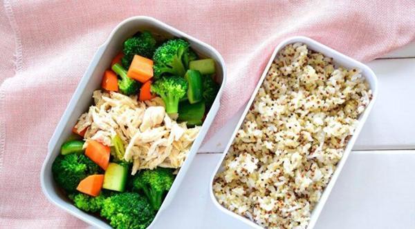 How to make quinoa rice bento + chicken breast + broccoli