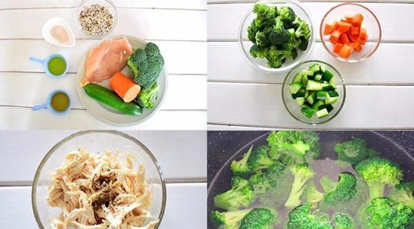 Quinoa rice + chicken breast + broccoli