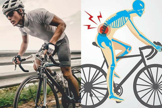 Keep your hands slightly bent while pedaling